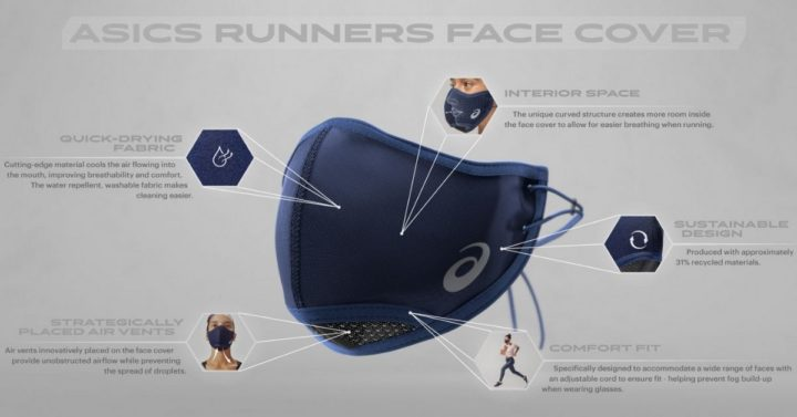 The New Asics Face Mask Is Probably Better Than The One You're Wearing