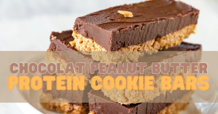 Chocolate Peanut Butter Protein Cookie Bars