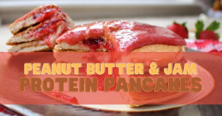 PB&J Protein Pancakes